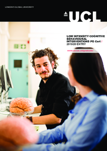 PDF version of Low Intensity Cognitive Behavioural Interventions PG Cert