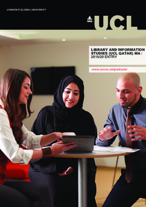 PDF version of Library and Information Studies (UCL Qatar) MA
