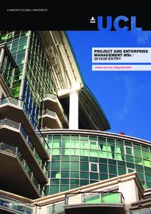 PDF version of Project and Enterprise Management MSc