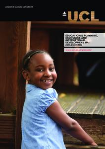 PDF version of Educational Planning, Economics and International Development