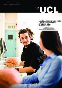 PDF version of Language Sciences (Sign Language and Deaf Studies)